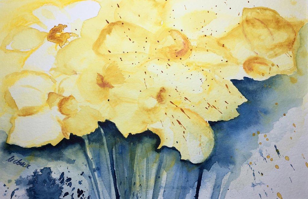 Osterglocken abstrakt